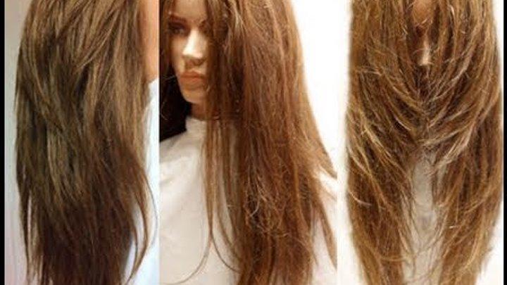 Layer haircut long hair