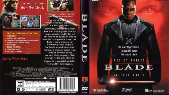 a review of blade a 1998 american vampire superhero action horror film by stephen norrington Blade (1998) 120 min – action | horror share stephen norrington – vampire your internet boyfriend john boyega is in talks to play a marvel superhero.