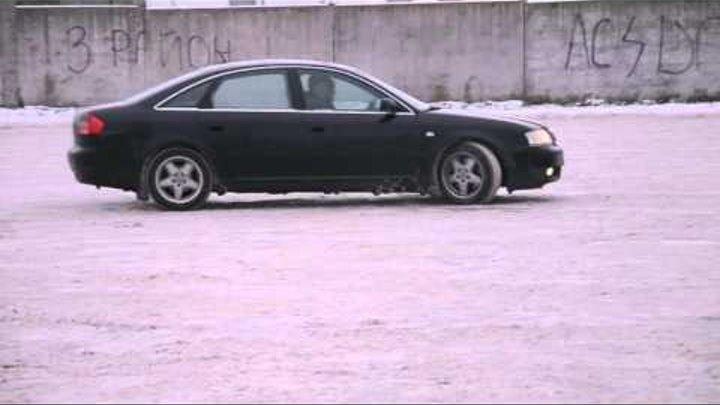 зимний дрифт Winter Drift Audi A6 C5 Quattro