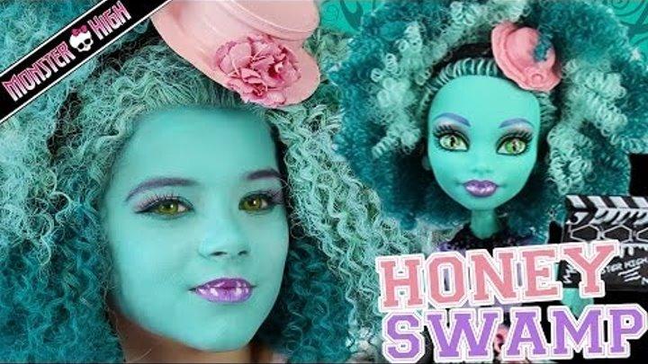 Monster High Honey Swamp Doll Makeup Tutorial for Halloween or Cosplay | Kittiesmama