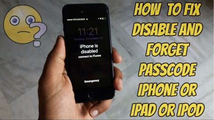 how to unlock iphone 5 se when disabled