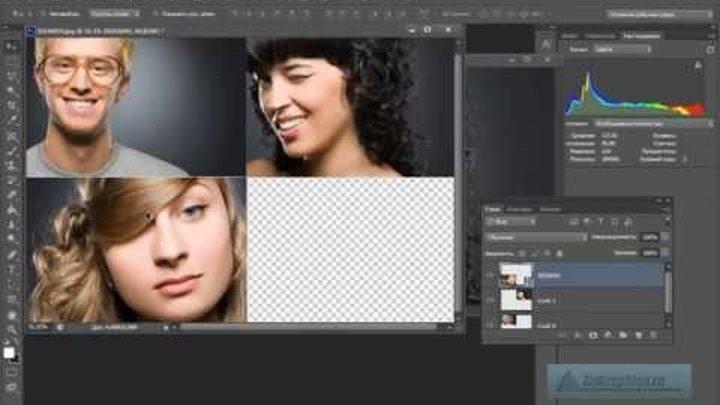 Как сделать из нескольких фотографий одну в iphone
