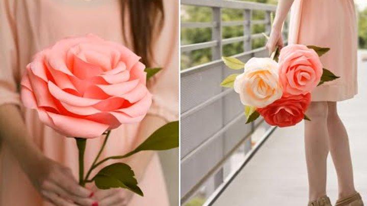 Большая роза из бумаги своими руками - ФоксТел-Юг