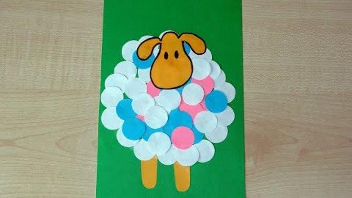 аппликация овечка рисунок