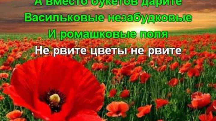 Скачать не рвите цветы не рвите mp3 в качестве 320 кбит.