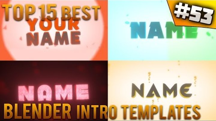TOP 15 BEST Blender Intro Templates 53 Free Download
