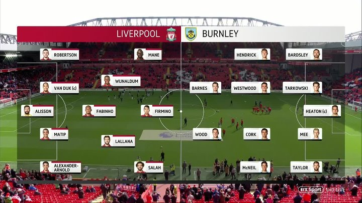 Liverpool vs Burnley –  & Full Match