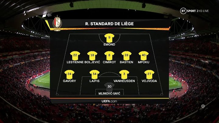 Arsenal vs Standard Liège –  & Full Match