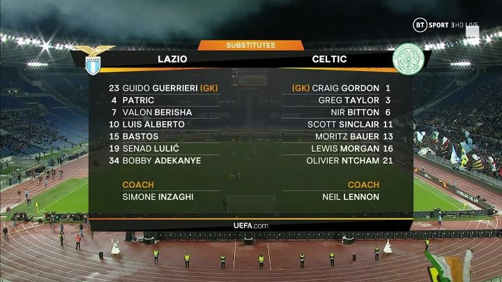 Lazio vs Celtic –  & Full Match