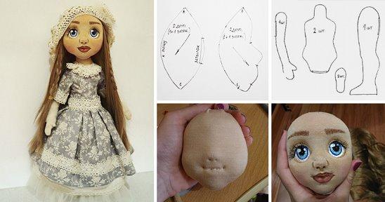 Сшить голову куклы фото