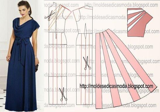 Как сшить длинное платье быстро и без выкройки