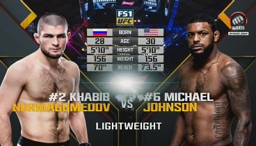 Хабиб Нурмагомедов - Майкл Джонсон / Nurmagomedov vs. Johnson