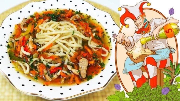 Лагман - по русски суп лапша, по японски удон.
