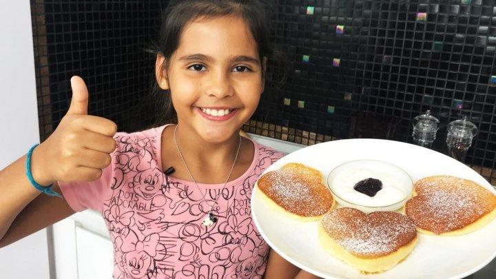 Пышные панкейки (оладьи), рецепт от Софии 9 лет.