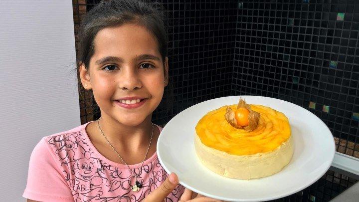 Готовим вместе с Софией японский чизкейк для Детей. Обучающее видео. Детские блюда от школы SECRET.