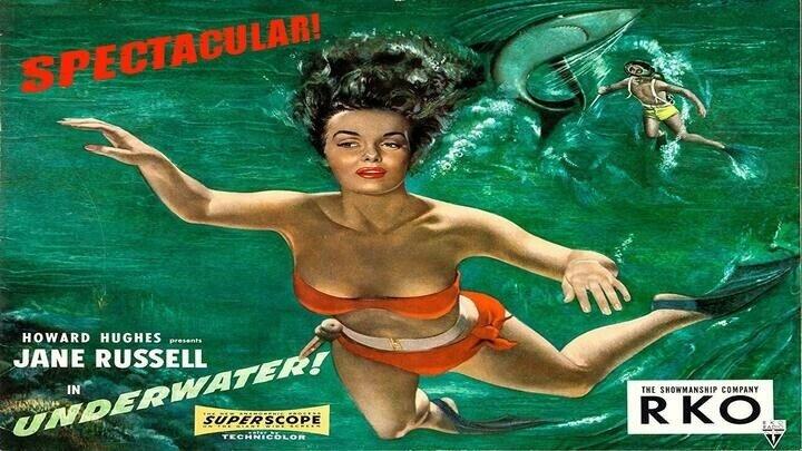 Под водой! / Underwater! (США 1955 HD) Драма, Приключения