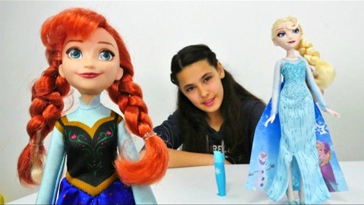 Karlar Ulkesi Elsa Ve Anna Oyuncaklari Tanitiyoruz Elbise Boyama