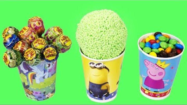 Учим цвета. Открываем Шоколадные яйца, Киндер Сюрпризы, Конфеты, Игрушки для детей, Kinder surprise