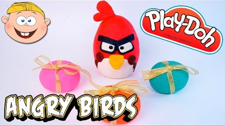 Пластилин Плей До Злые Птички, Play Doh Kinder Surprise Eggs Angry Birds Toy