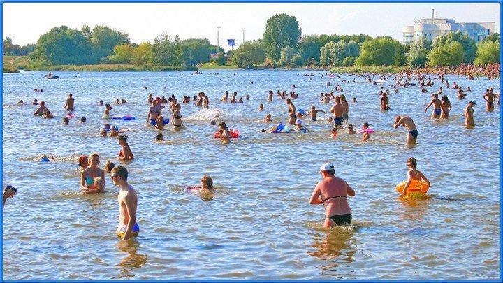Комсомольский пляж. Минск. 1ч.(3). 29.07.2012