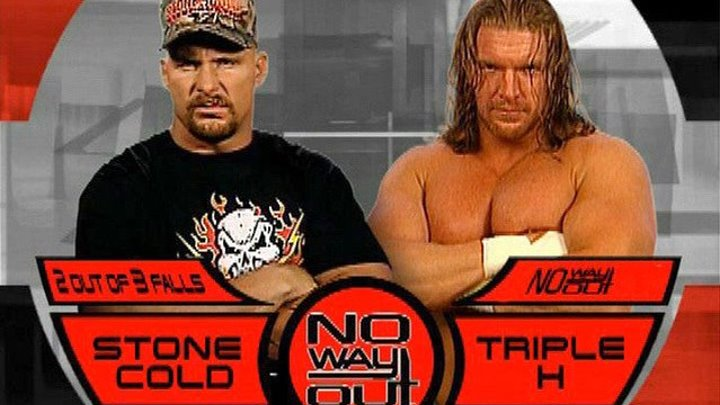 WWE No Way Out 2001 Triple H vs Stone Cold Steve Austin Three Stages of Hell Match 720p HD