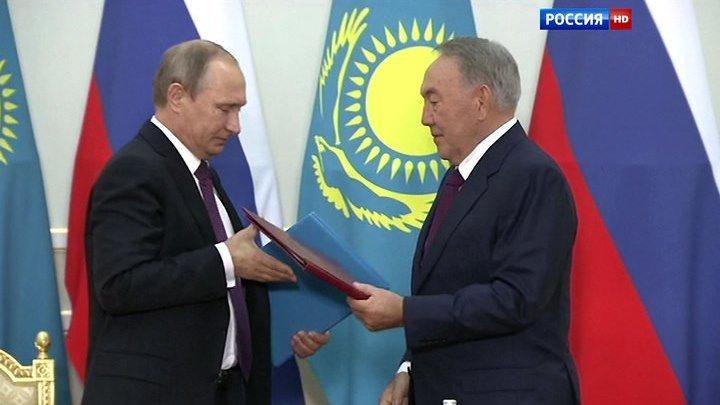 Больше, чем просто союзники: Москва и Астана - Заявления В.Путина и Н.Назарбаева 15.10.2015