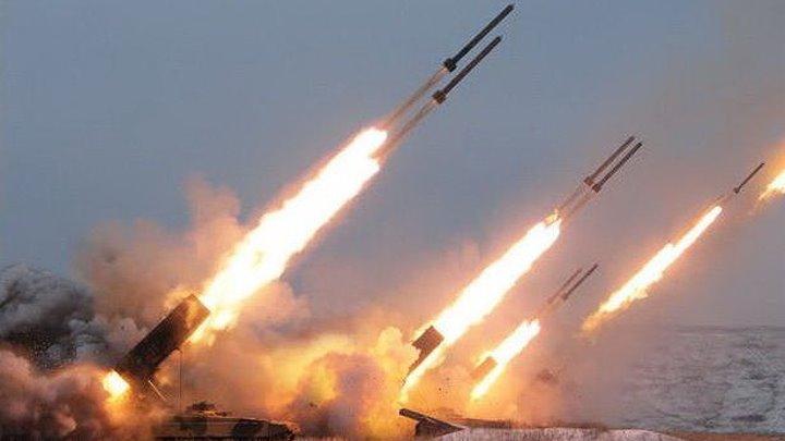 «Солнцепёк» работает по ИГИЛ شاهد انفجار آلاف القنابل العنقودية من راجمة روسية على بلدة سكيك بريف ادلب الجنوبي