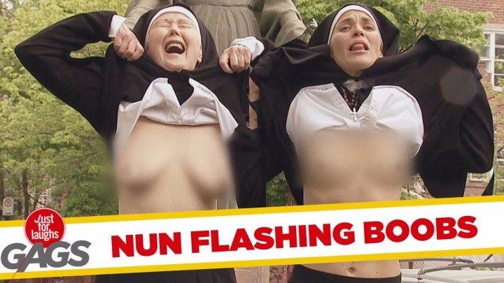 ★Похотливые монашки в розыгрыше от Just For Laughs Gags/ скрытая камера /зарубежное