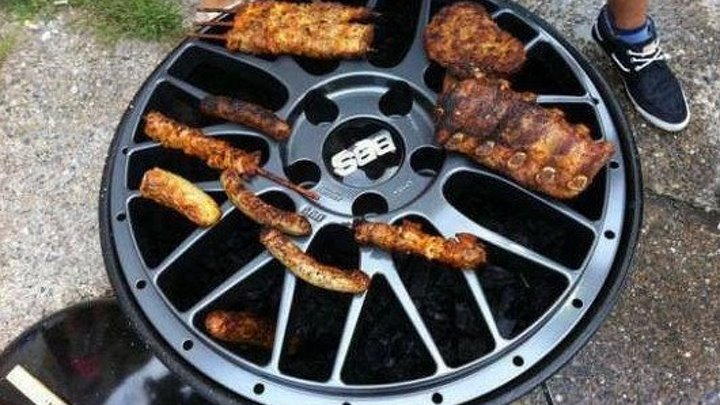 Как сделать мангал - гриль из авто диска _ How to make a charcoal grill with an automobile disk