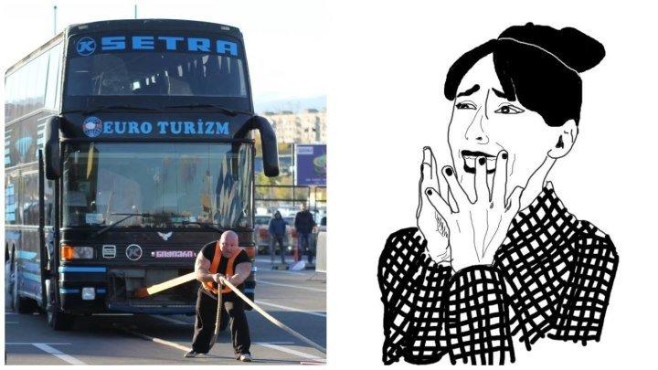 დავით ჭოხონელიძე - ავტობუსის გაწევა (ნიჭიერი)
