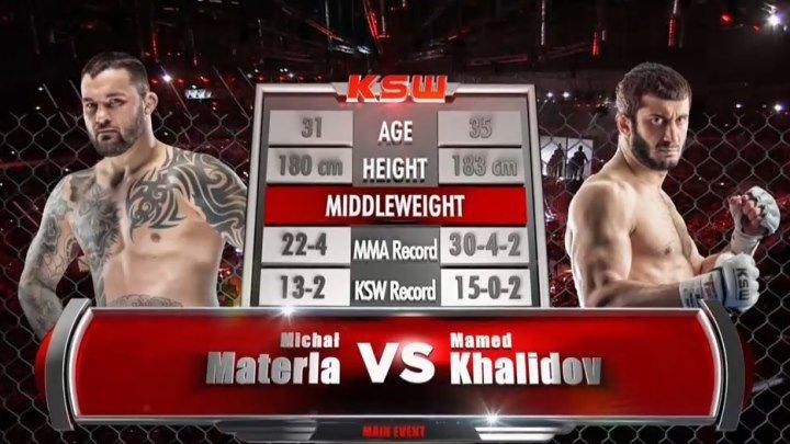 Михал Матерла vs. Мамед Халидов . Чемпионский бой. KSW 33. 28 ноября 2015.