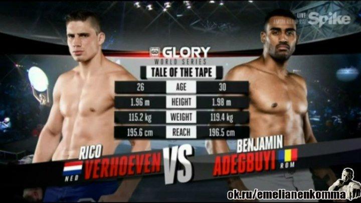 Рико Верховен vs.Бенджамин Адегбуи.Чемпионский бой.GLORY 26: Amsterdam