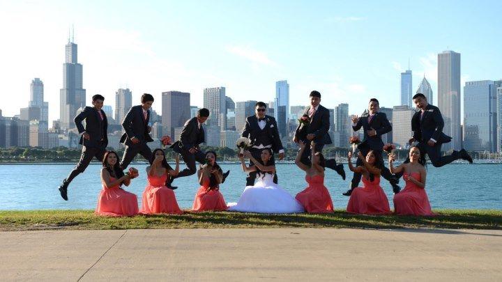 Шикарная свадьба кыргызов в Чикаго. Медет и Аида.
