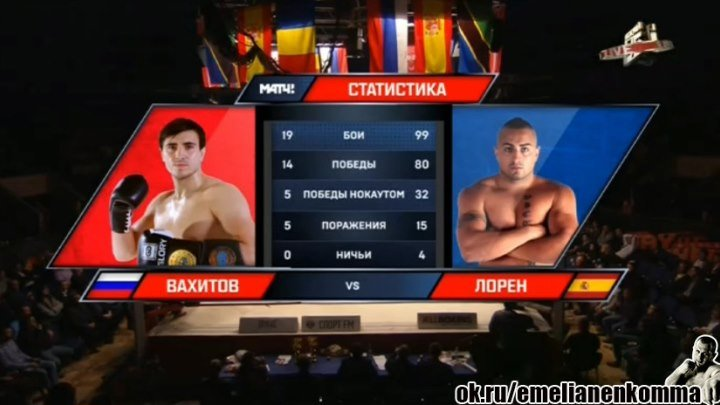 Артем Вахитов (Россия) vs. Хорхе Лорен (Испания). «Muay Thai Moscow». 19 декабря 2015