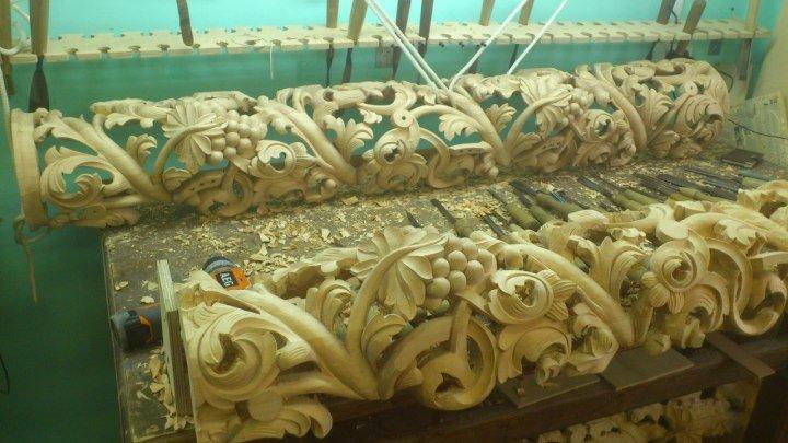 Изделия из дерева на станке