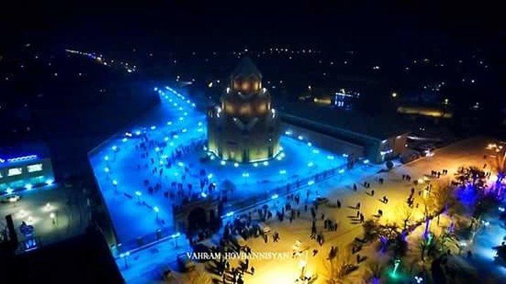 Новогодняя ночь в Масисе. Армения.