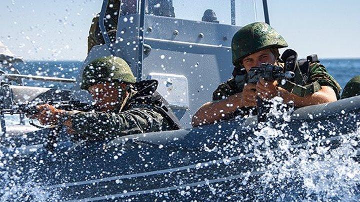 Высадка российского морского десанта.