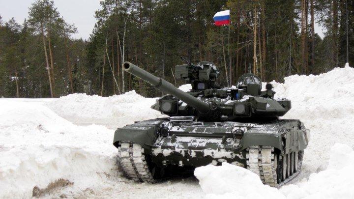 Танки РОССИИ - Т-90 в Югорске 23 Февраля 2016_го. Автор видео Юрий Кочев