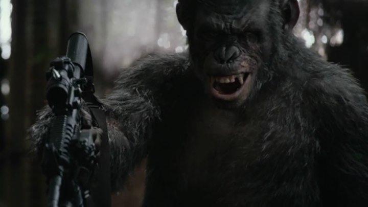 Планета обезьян Революция трейлер (смотрите только в нашем группу)
