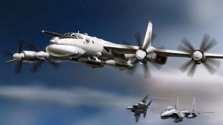 Кошмарный сон для НАТО! Как наши ракетоносцы Ту-95 шугают натовских лётчиков!
