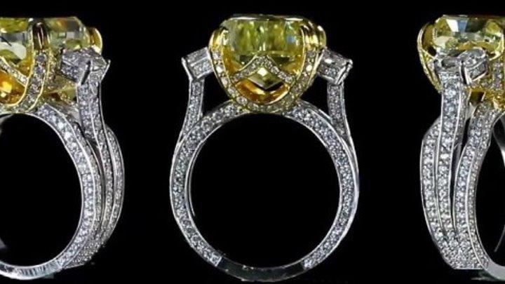 """Эксклюзивное кольцо с бриллиантами """"Мой нежный Ангел"""""""