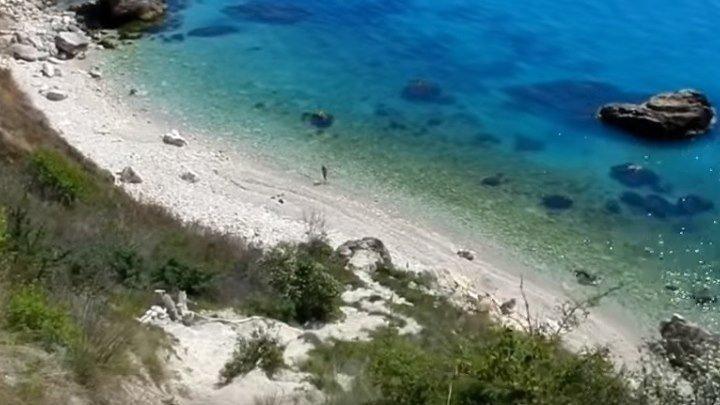 КРЫМ СЕВАСТОПОЛЬ Фиолент дикий пляж у мыса Виноградный спуск