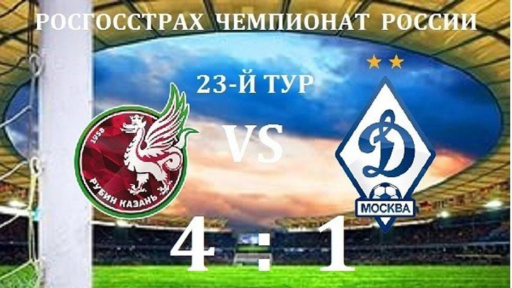 Рубин 4-1 Динамо