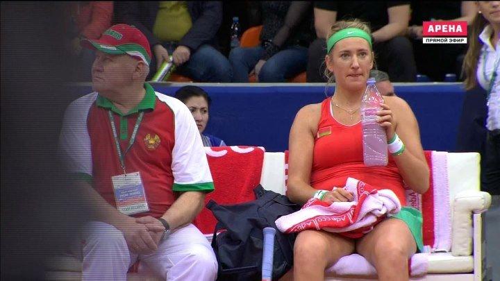 Теннис 2016 FedCup RUS-BLR PLAY-OFF Match-2 Gasparyan-Azarenka 1080i RUS 2016.04.16