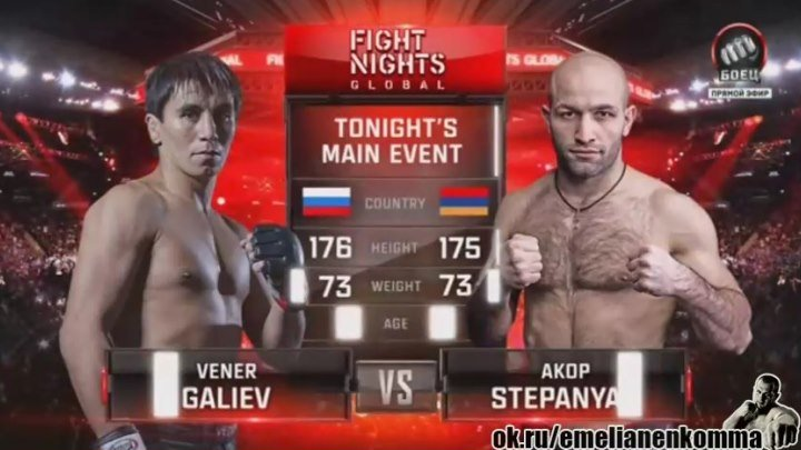 Венер Галиев vs. Акоп Степанян. Fight Nights Global 45. 22 апреля 2016