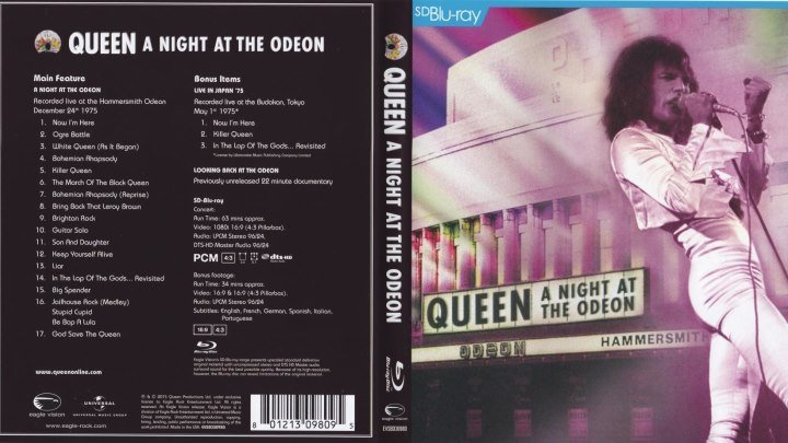 Queen - A Night At The Odeon (1975 / 2015)