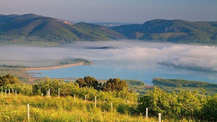 БАЙДАРСКАЯ ДОЛИНА, КРЫМ. Baidar valley, Crimea. Аэросъемка