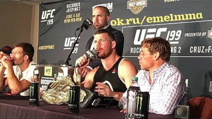 ★ Перепалка Биспинга и Рокхолда на конференции после UFC 199 ★