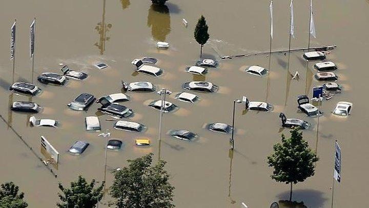 Чудовищное наводнение в Германии 30.05.2016