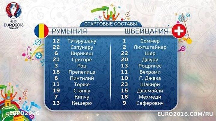 Обзор матча ЧЕ 2016 Группа А Румыния 1-1 Швейцария